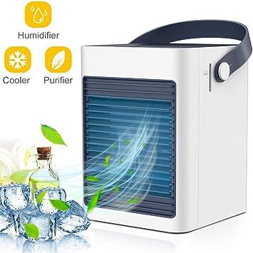WQSFD Mini Ventilador de Escritorio Humidificador Purificador de ...