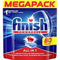 Finish Dishwasher Detergent Tablets, All In 1 80 Tab