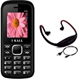 I KALL K55 White Dual Sim mobile with neckband