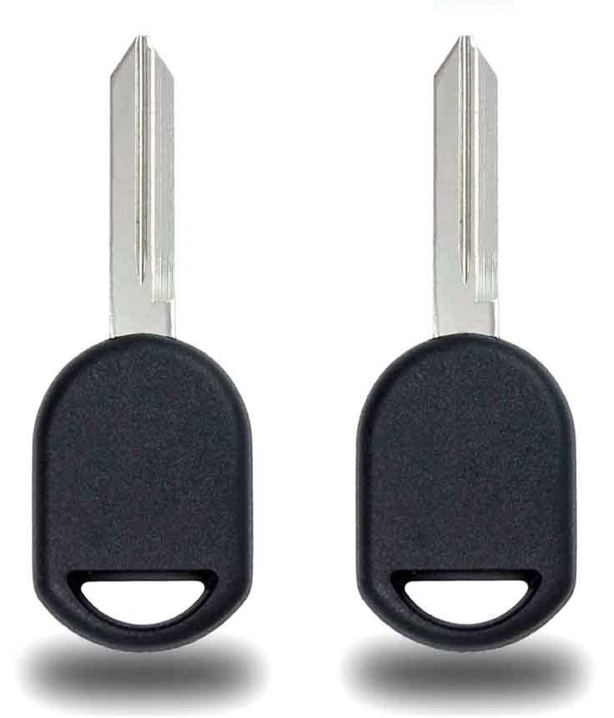 KeylessCanada © 2X New Transponder Ignition Car Key for Ford Lincoln Mercury Mazda 80 Bit Chip (Work for 80 bit / 40 bit Chip Keys)