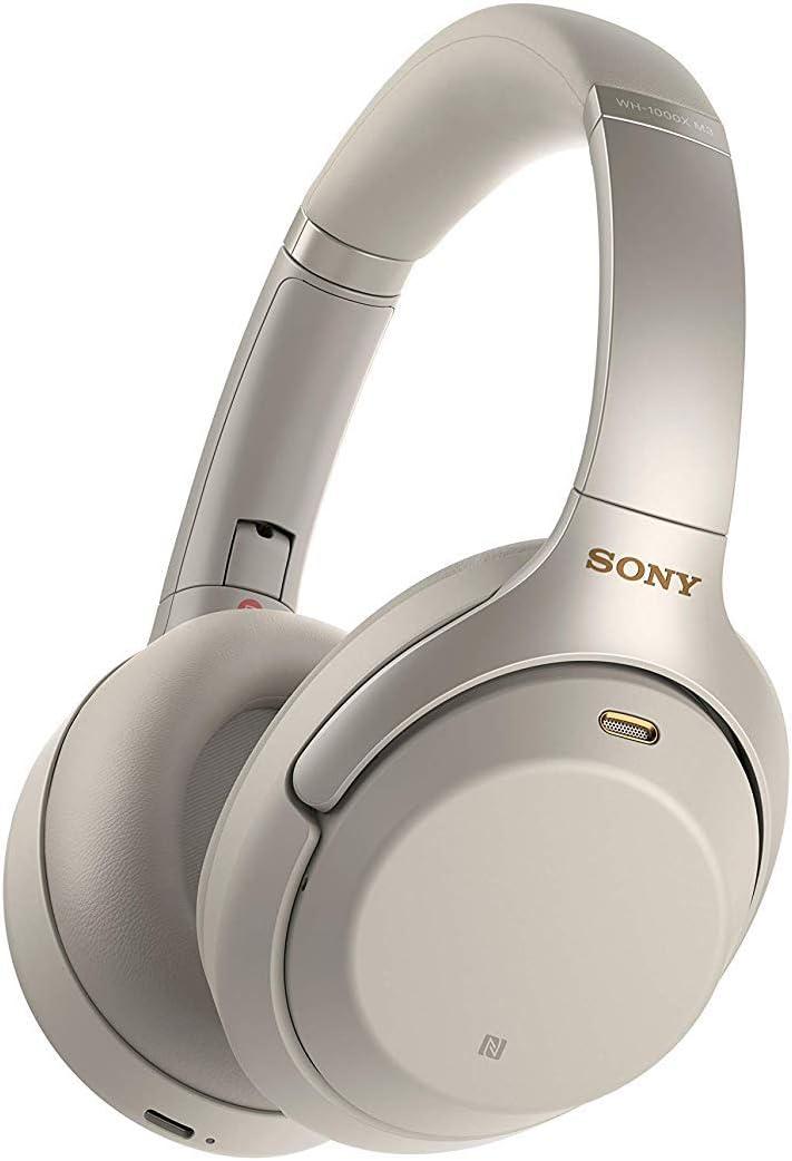 Sony WH1000XM3 - Auricular Noise Cancelling (Bluetooth, sonido adaptativo, compatible con Alexa y Google Assistant, 30h de batería, óptimo para trabajar en casa, llamadas manos libres), silver