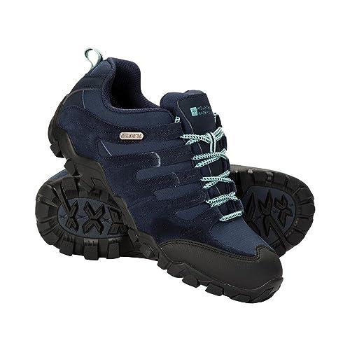 Mountain Warehouse Zapatillas para Mujer - Transpirables, Zapatillas con Cordones para Cualquier época del A?o- para Excursión, Gimnasio y Correr Gris Oscuro 41