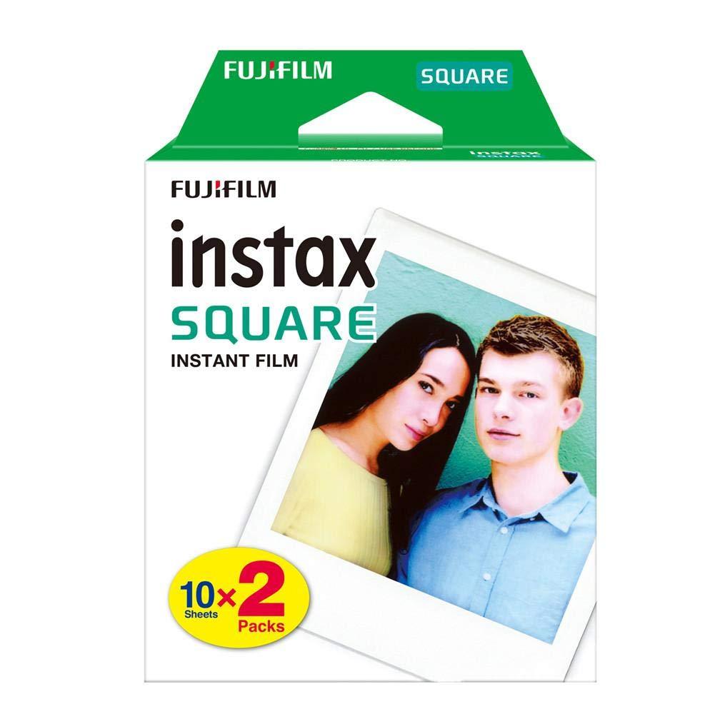 Rikey 20 Hojas de Papel fotográ fico de Borde Cuadrado Instax Square Twin Pack para la cá mara instantá nea Instax SQ10 SQ6 Comparta la Impresora SP-3