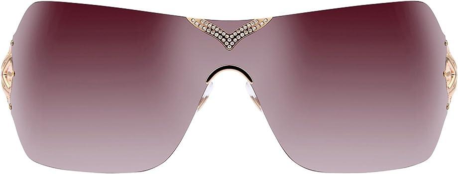 06663f2c47d62 Amazon.com: Chopard Sunglasses SCH999S 08FC Gold/Mauve 805: Clothing