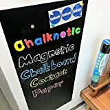 Chalknetic Magnetic Chalkboard Contact Paper, 39.3' x 17.7', Self Adhesive Magnetic Chalkboard for Wall, Magnetic Wallpaper, Alphabet Learning Board for Homeschool Kids Toddlers Kindergarten Classroom