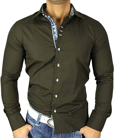 Golden Horn Contraste T – Polo para hombre de manga larga camisa marrón GH de 1714 marrón medium: Amazon.es: Ropa y accesorios