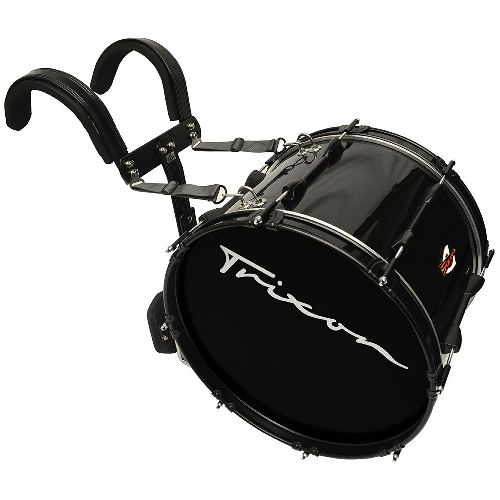 Trixon Marching Bass Drum 22'' x 12'' - Black Polish