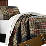 Brandream Luxury Patchwork Quilt Set Adults Teens Plaid Bed Comforter Set 100% Cotton Queen Size