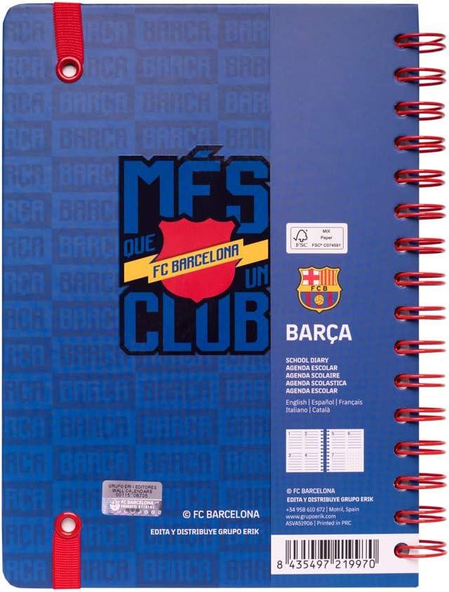 Agenda escolar 2019/2020 A5 12 meses Semana Vista Fc Barcelona: Amazon.es: Oficina y papelería