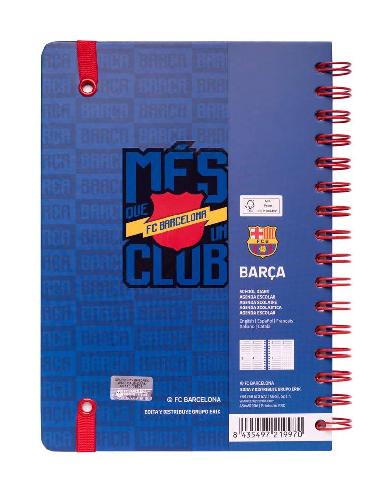 Agenda escolar 2019/2020 A5 12 meses Fc Barcelona: Amazon.es ...