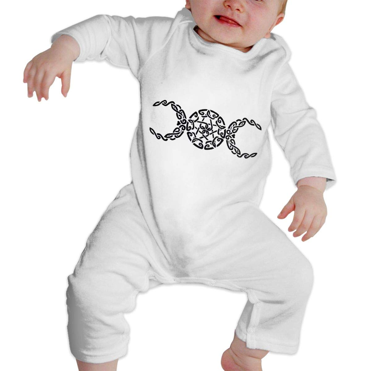 Infant Baby Girls Cotton Long Sleeve Pentacle Crescent Moon Climb Romper Funny Printed Romper Clothes