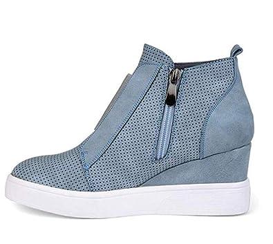 elegant shape buying now amazing price Amazon.com | T-JULY Women Fashion Round Toe Plus Size Ankle ...
