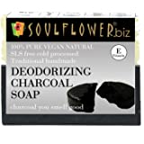 Soulflower Handmade Soap, Charcoal, 150g