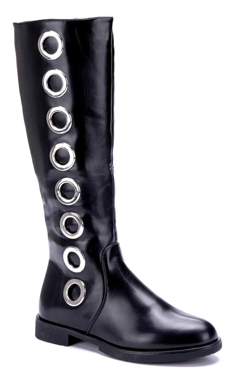6f24a6767d3797 Schuhtempel24 Damen Schuhe Klassische Stiefel Stiefeletten Boots Blockabsatz  Nieten 3 cm  Amazon.de  Schuhe   Handtaschen