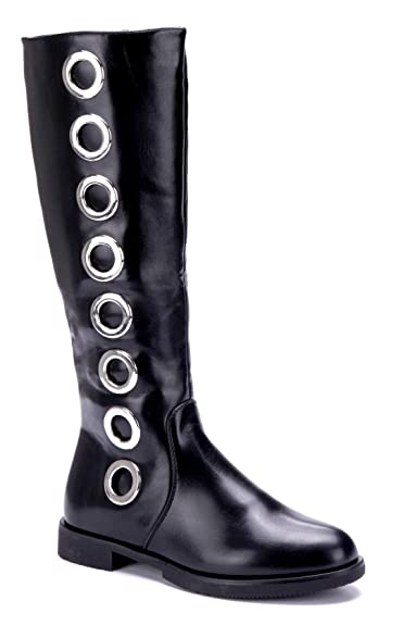 6bde1cdfcf9cc9 Schuhtempel24 Damen Schuhe Klassische Stiefel Stiefeletten Boots schwarz  Blockabsatz Nieten 3 cm