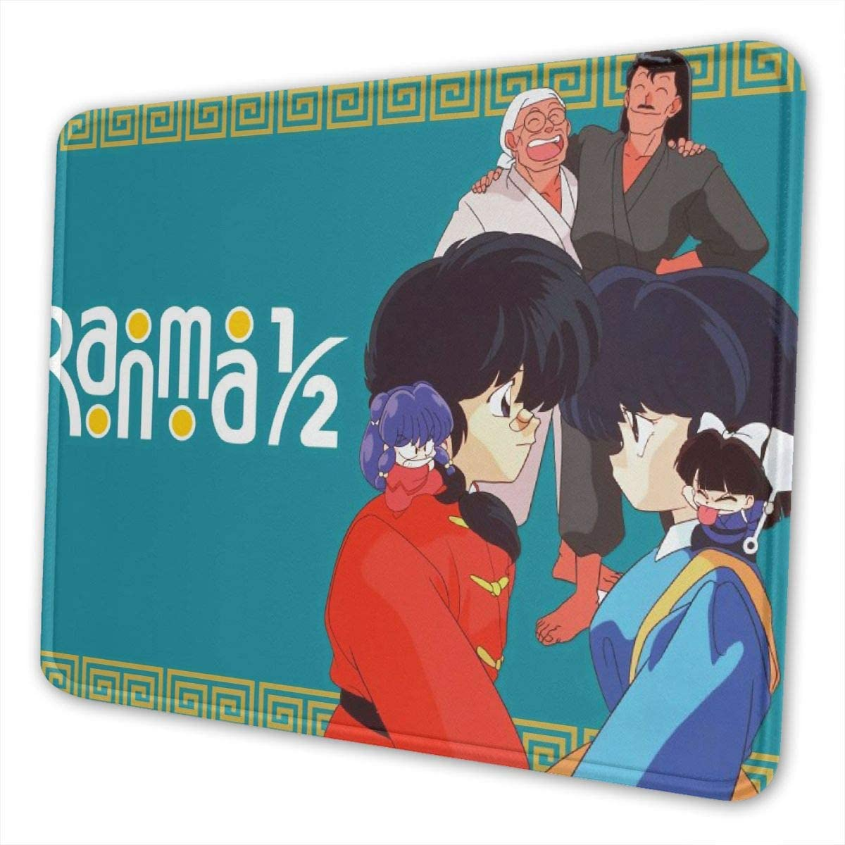 Ranma 1?2 Ranma Tendou Akane Oversize Non-Slip Rubber Thick 3mm Mousepad Computer Gaming Mouse Pad Mat Stitched Edges