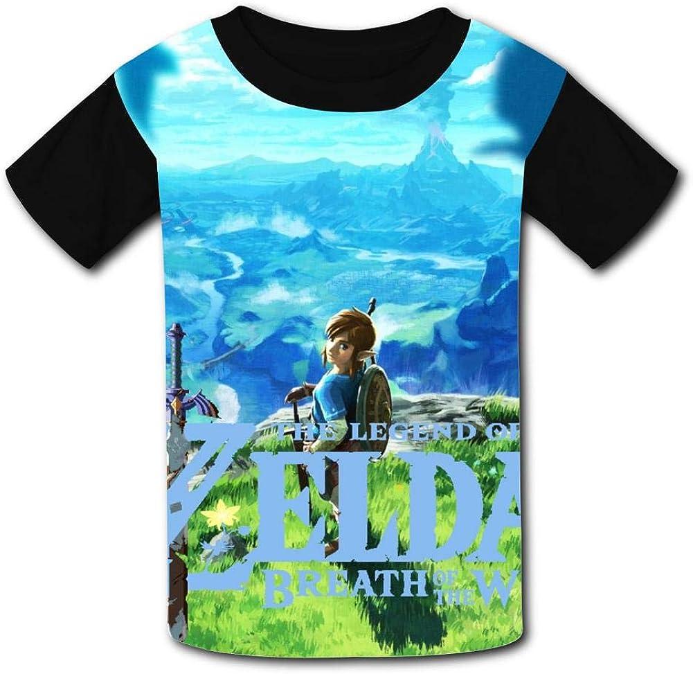 Princess Zel-da Brea-th of The Wild Li-nk Unisex Kids T-Shirts 3D Printed Fashion Youth T Shirt Tees for Boys Girls