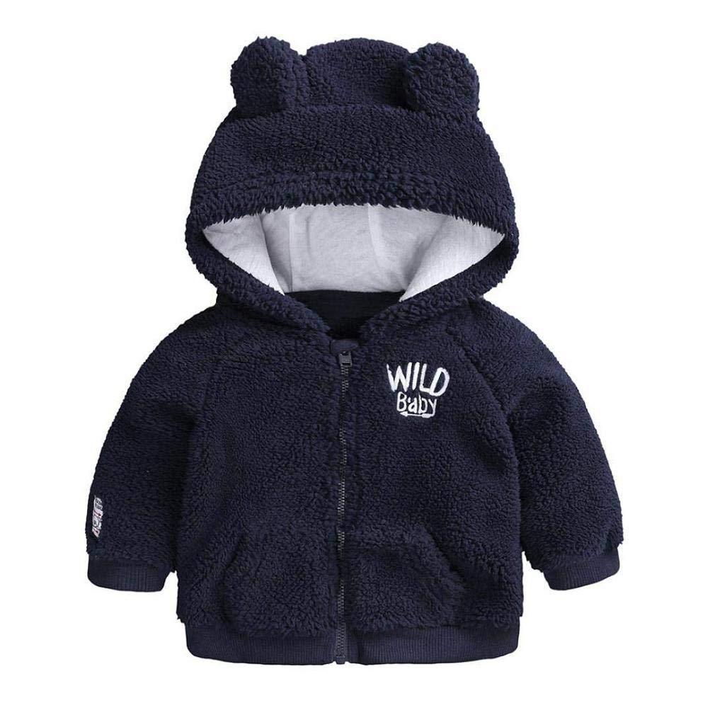 Noopvan New! Children Tops Warm Clothes Coat, Newborn Infant Baby Boys Girl Cartoon Ear Hooded Pullover 4551