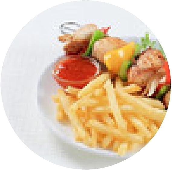 alfombrilla de ratón Shish kebab de pollo con patatas fritas ...