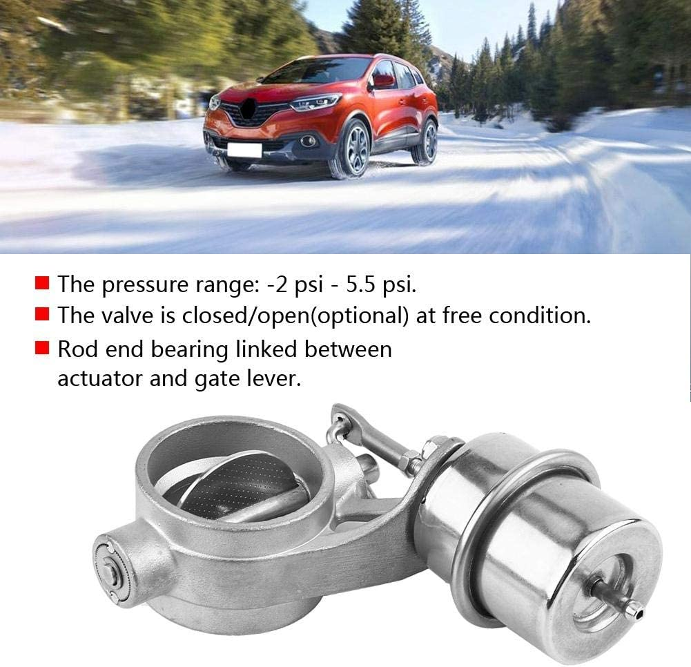 Open Qiilu Car Exhaust Control Valve Boost Vacuum Activated Exhaust Cutout//Dump 2inch