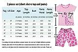 DHASIUE Pajamas Girls' Short Sleeve Top and Pants