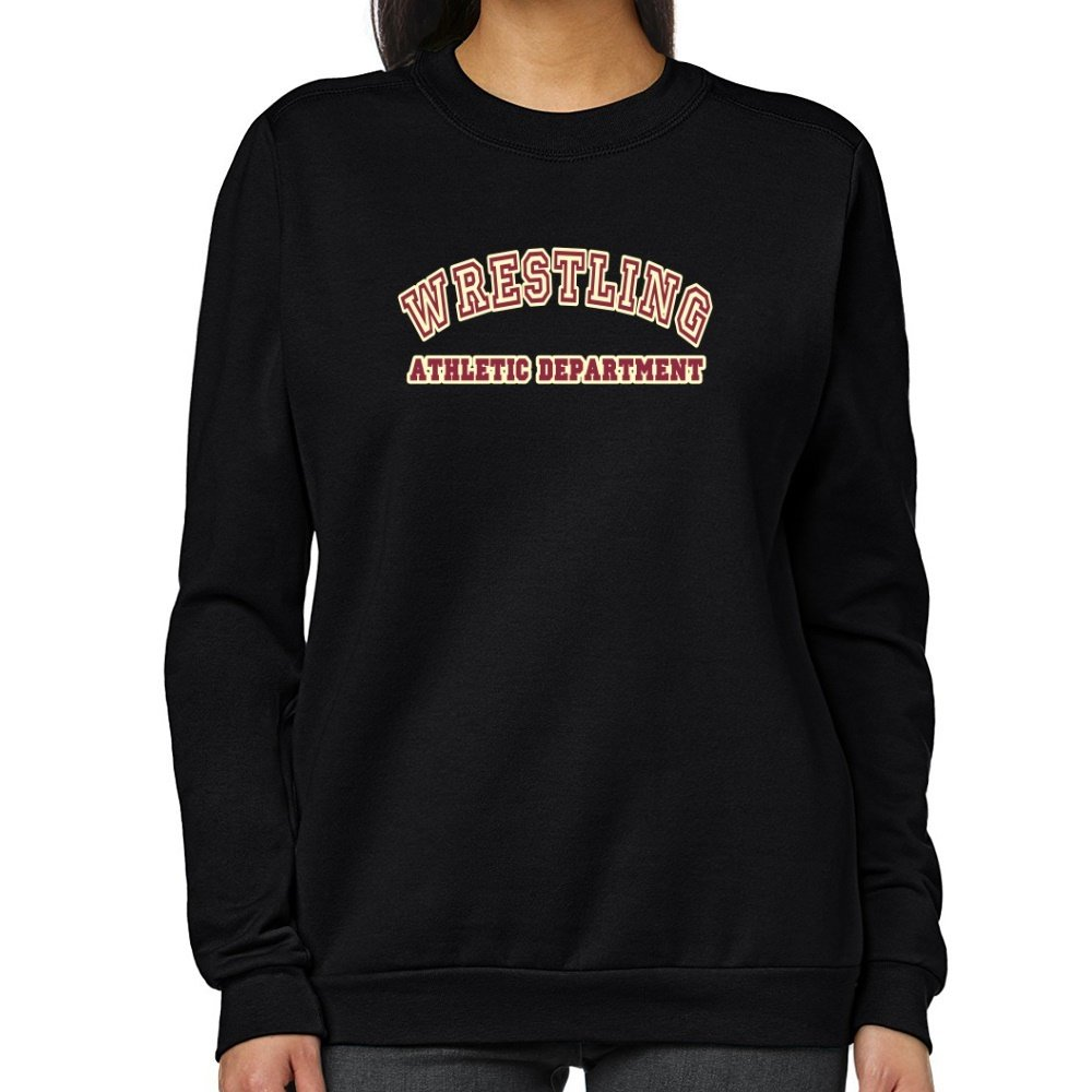 Teeburon RETRO Wrestling ATHLETICS DEPARTMENT Women Sweatshirt