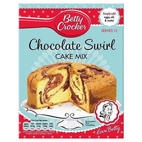 Betty Crocker Chocolate Swirl Cake Mix (500g) - Pack of 2 (Cake 500g Chocolate)