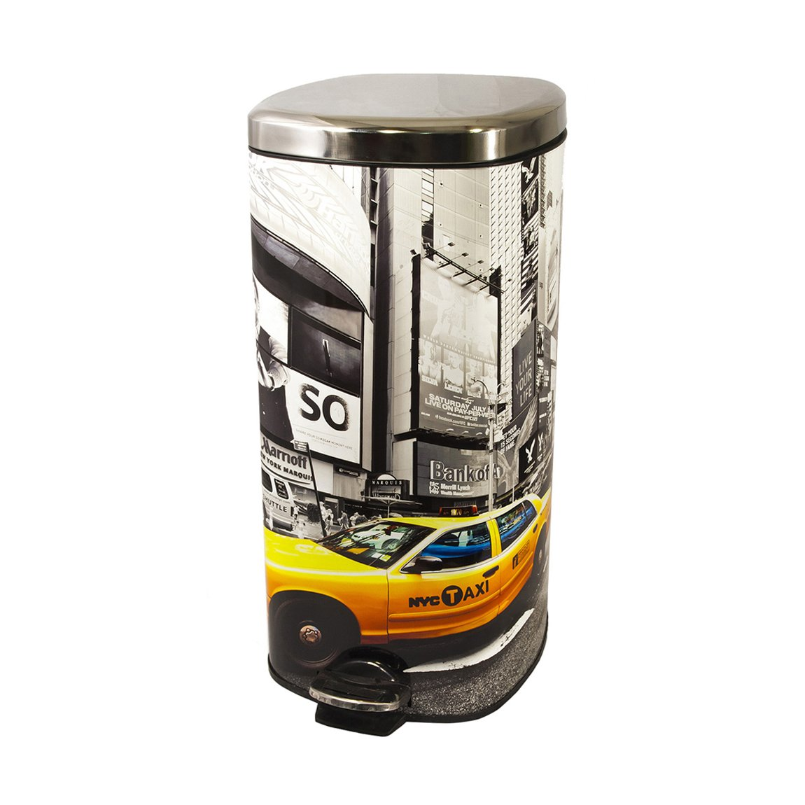 FRANDIS Cubo de Basura 30 L Metal con dise/ño York