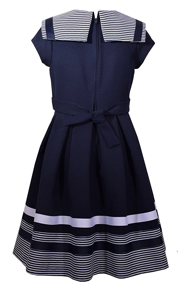 7360a11acb7 Amazon.com: Bonnie Jean Girls' Little Fit and Flare Nautical Dress: Clothing