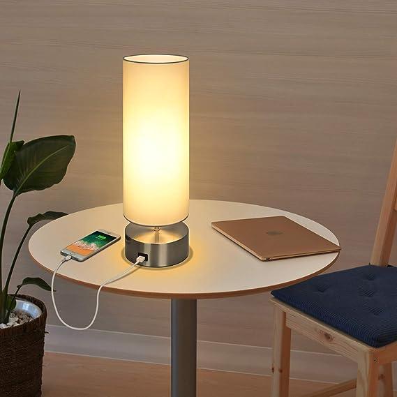 Amazon.com: Lámpara de mesa USB, control táctil para mesa ...