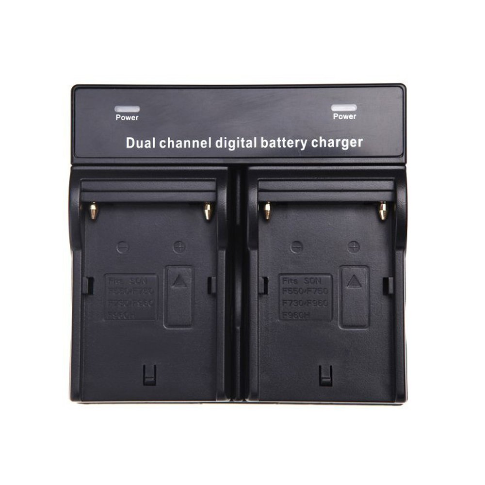 TOOGOO(R) Dual Channel Battery Charger for SONY NP-F970 F750 F960 QM91D FM50 FM500H FM55H Battery