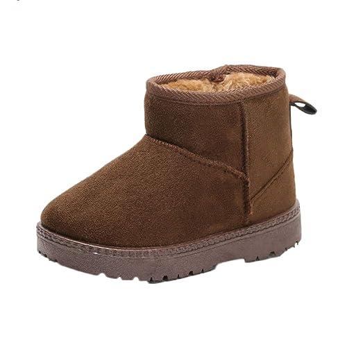 Botas De Nieve para Niños Niñas Zapatos Botines De Invierno Calientes: Amazon.es: Zapatos y complementos