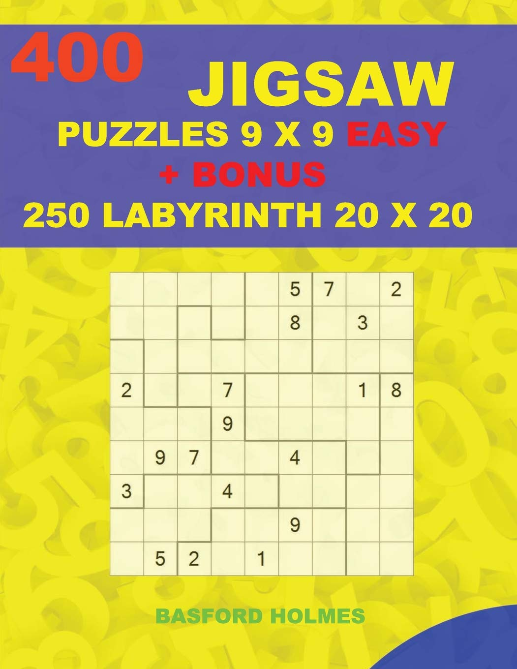 graphic about Monster Sudoku Printable titled 400 JIGSAW puzzles 9 x 9 Uncomplicated + Reward 250 LABYRINTH 20 x 20
