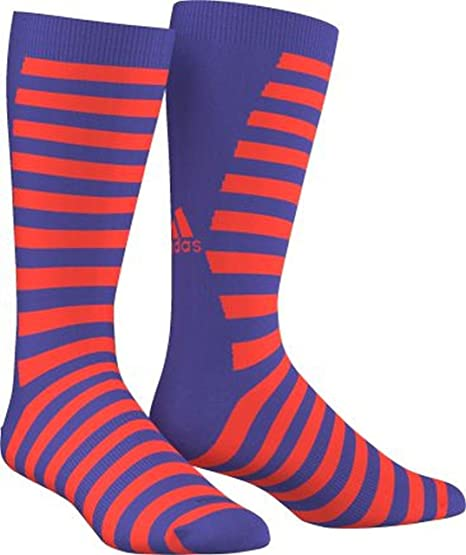 Adidas Calcetines Climalite Running formación Azul & Naranja Soporte de Toe Costura 1 par tamaño 6
