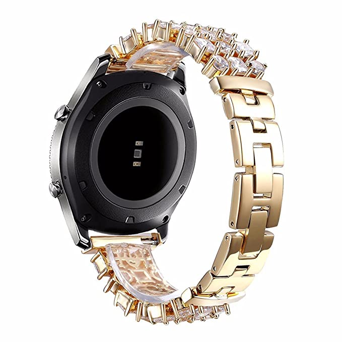 Samsung Gear S3 Band, Dahase Diamond iWatch Bling Bracelet Wristband Jewelry Rhinestone Watch Band for Samsung Galaxy Gear S3 Frontier Stainless Steel ...