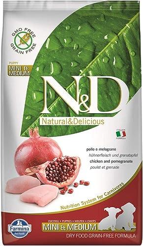 Farmina Natural Delicious Chicken Grain-Free Mini Medium Breed Puppy Formula Dry Dog Food 5.5 Lb