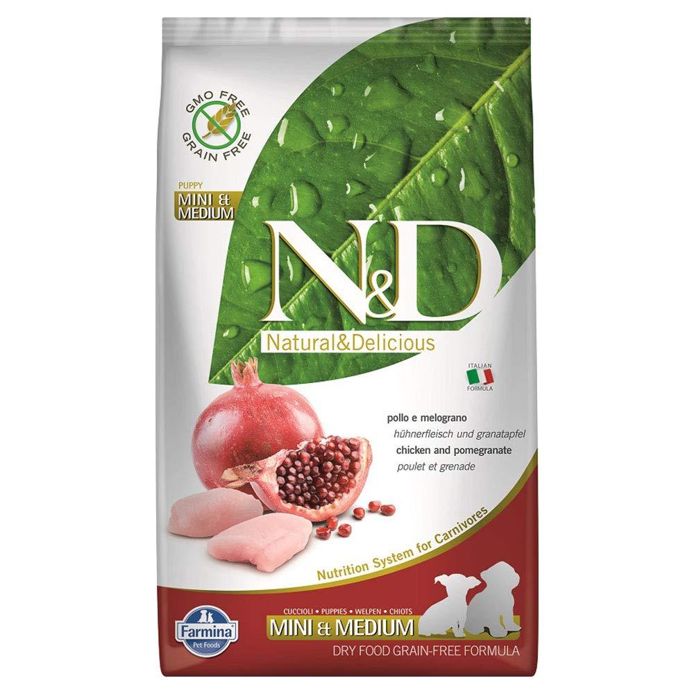 Farmina Natural & Delicious Chicken Grain-Free Mini & Medium Breed Puppy Formula Dry Dog Food 5.5 Lbs