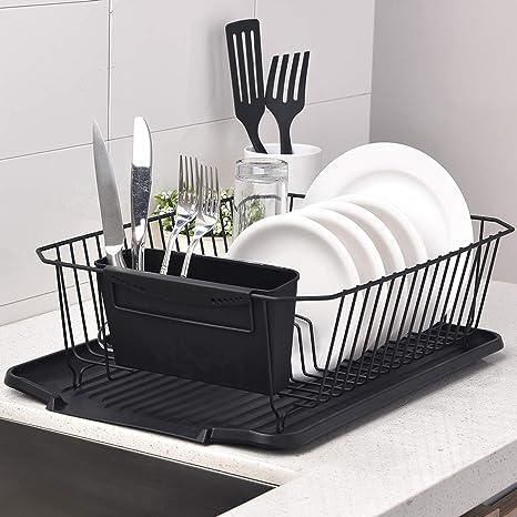 Amazon.com: ENGELCH Matte Black Rust-Proof Kitchen Draining ...