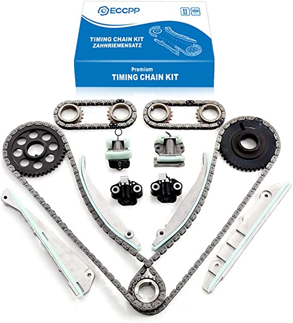 ECCPP 9-0391SD Timing Chain Kits Fits with Tensioner Crankshaft Sprocket 2001 2002 2003 2004 Lincoln Navigator