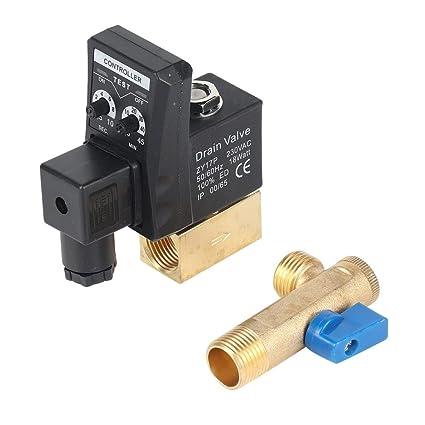 Válvula de drenaje electrónica Depósito de gas temporizado Válvula de drenaje automática Puerto de 1/