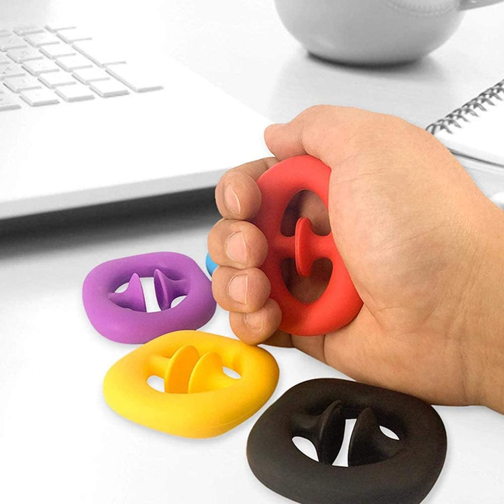 Grab Snap DING Fidget Toy Squeeze Sensory Stress Anxiety Relief Toys for ADHD Fidget Popper Stress Reliever Toys for Kids Adults Purple