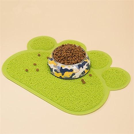 Alfombra para gatos huella Tapetes para comer Gatos perros tapete PVC estera para Gatos perros mascotas