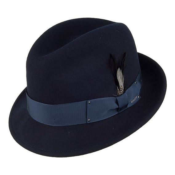 a2fd6b4524e599 Village Hats Bailey Hats Tino II Crushable Trilby - Navy: Amazon.co ...