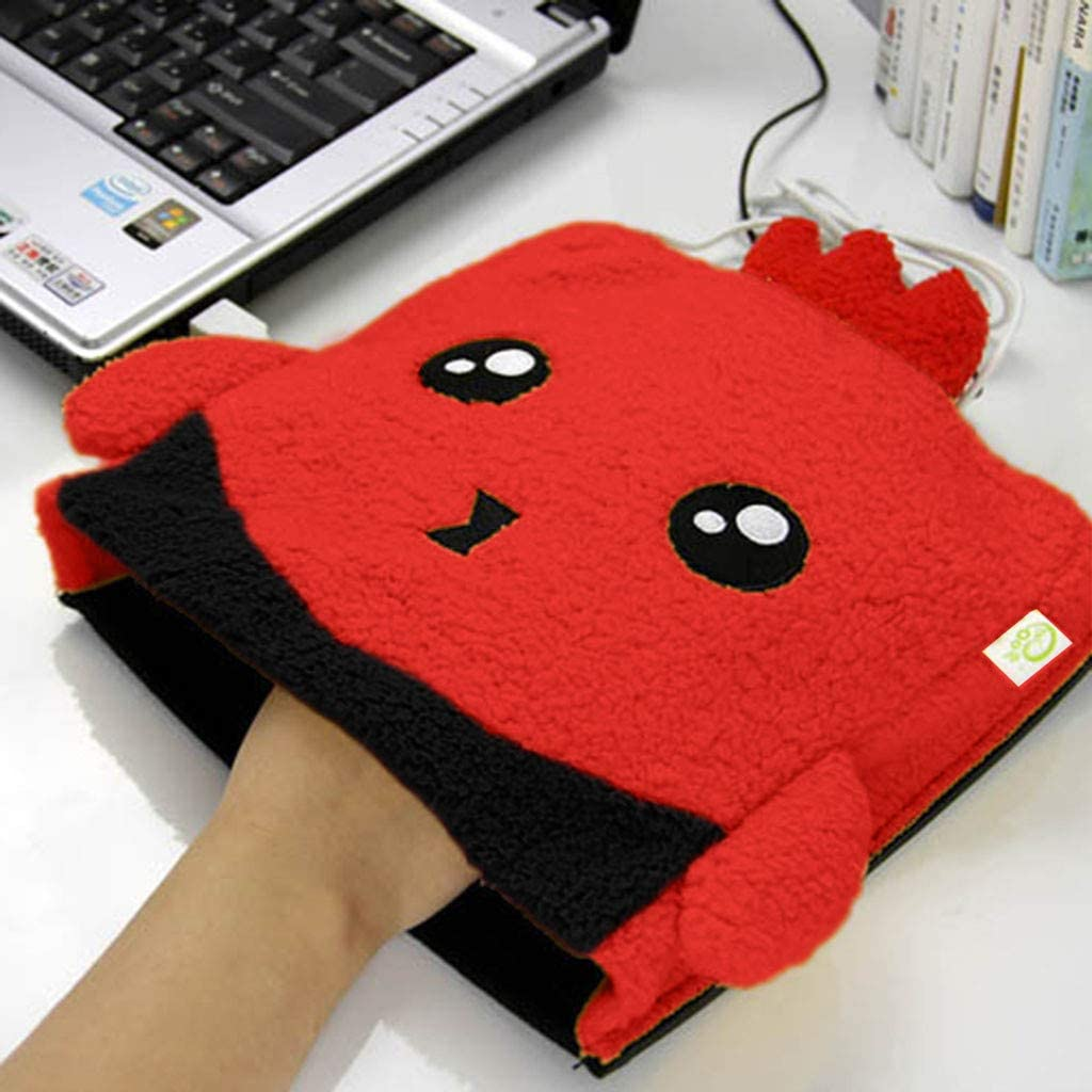 Cartoon USB Heated Mouse Pad Mouse Hand Warmer With Wrist Guard Warm Winter Gift