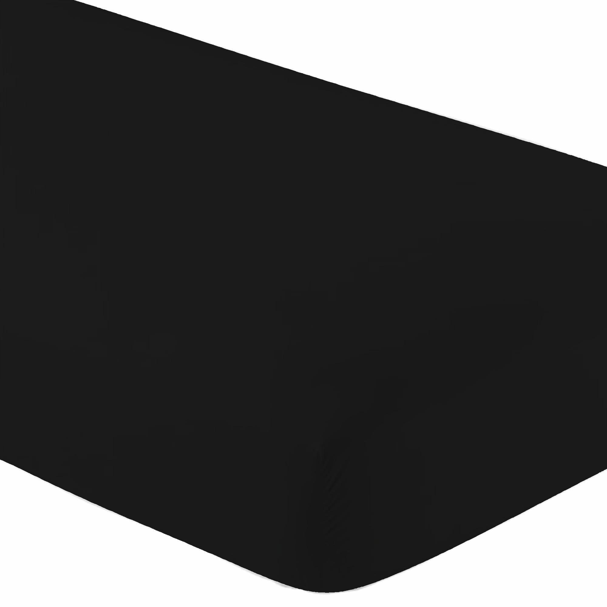 Crib Fitted Sheet Only - 200 Thread Count 100% Cotton - Soft & Comfy -Fit for Standard Crib Mattress (Black)