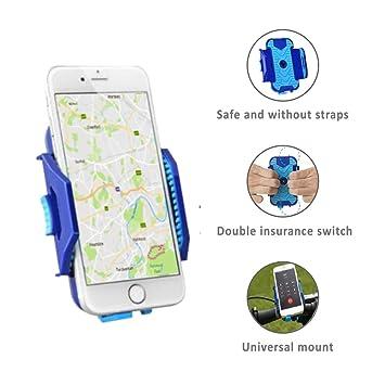 Soporte móvil de gran calidad para bicicleta QualiToy ajustable para cualquier móvil, Smartphone y GPS