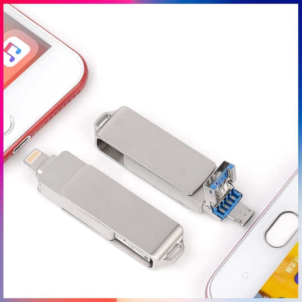 ZUZU Disco a U per chiavetta USB con chiavetta USB a Rotazione 360 /° per Telefono Cellulare Apple OTG Chiavetta USB in Metallo a Tre in Uno 16 GB-512 GB