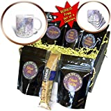 Dream Essence Designs-Spring - Digital Art Wind Chimes surrounded by pretty Spring butterflies - Coffee Gift Baskets - Coffee Gift Basket (cgb_220605_1)