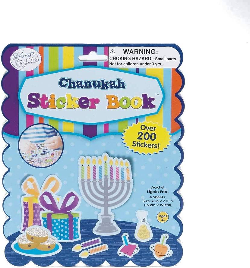 Dover Little Activity Books Stickers Glitter Hanukkah Stickers