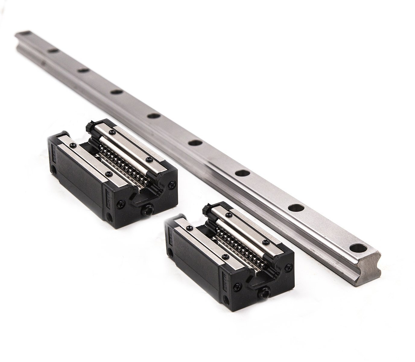 TEN-HIGH CNC parts linear rail HSR15 600mm Approx 23.62inch Linear Guideway Rail+2pcs HSR15CR Square type carriage bearing block